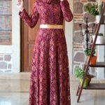 Son Moda Mürdüm Abiye Elbise Modelleri 2021 & 2022