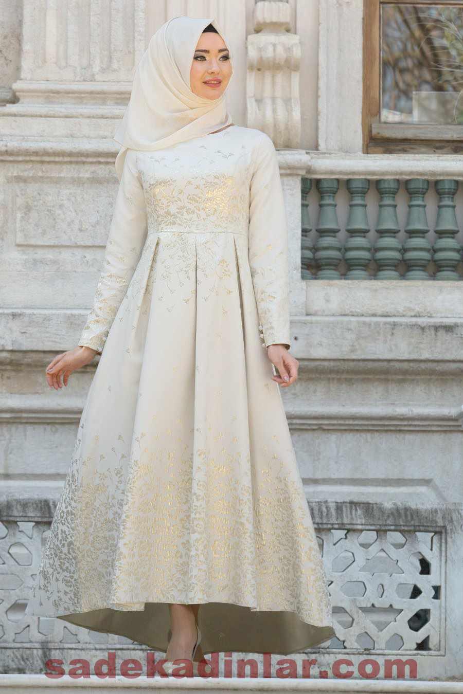 Tesettür Nişan Elbise Modelleri 2019