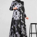 Son Moda Siyah Desenli Tesettür Abiye Modelleri 2021 & 2022