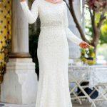 Son Moda Son Moda Beyaz Dantel Tesettür Abiye Modelleri 2021 & 2022