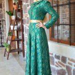 Son Moda Yeşil Tesettür Abiye Elbise Modelleri 2021 & 2022