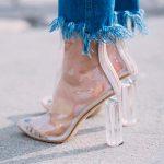 Şeffaf Topuklu Ayakkabı 2017 Stiletto Trendleri