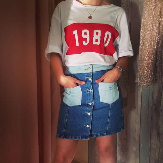 2021 Yaz Stili Bayan Kot Etek Kombinleri