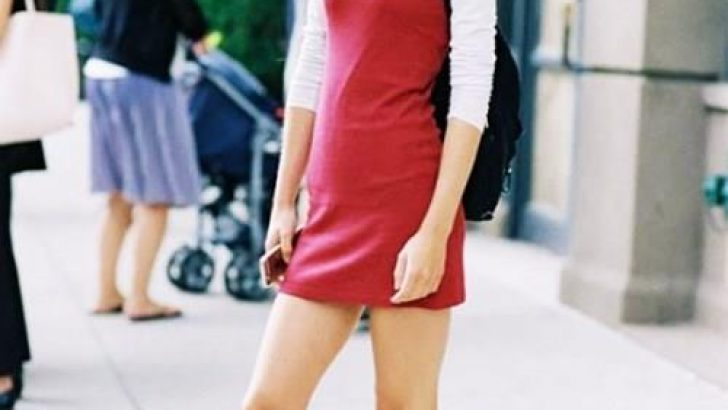 Yeni Moda V Yaka Askılı Elbise Kombinleri