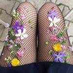 Yeni Trend Çiçekli File Çorap Modelleri 2019