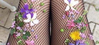 Yeni Trend Çiçekli File Çorap Modelleri 2017