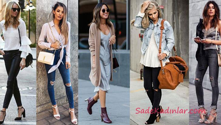 02d37f03b150a Sokak Modası Bayan Günlük Kıyafet Kombinleri 2019-2020 ...