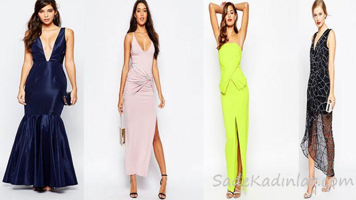 2018 Abiye Modelleri Dikkat Çekici Şık ve Zarif Uzun Gece Elbiseleri