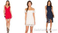 2018 Dantelli Abiye Elbise Zarif ve Dikkat Çekici Gece Elbiseleri