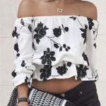 En Şık Omzu Açık Bluz Modelleri İle Omuz Dekolteli Kombinler