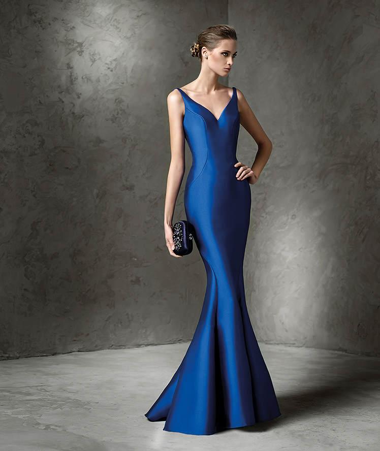 334a7252257a7 2018 Dikkat Çekici Saks mavisi Abiye Elbise uzun balık modelli sade ve şık.  «