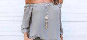 Bu Yılın Modası Omzu Açık Bluz Modelleri