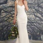 Abiye Modelleri beyaz askılı zarif model
