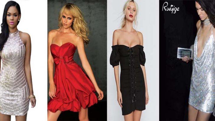 Kısa ve Şık Gece Elbiseleri 2019 Abiye Modelleri