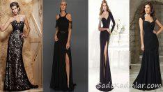 Siyah Elbise Kombinleri Göz Kamaştıran Abiye Modelleri