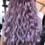 Pastel Renkli Ombre Saç Modelleri ve Saç Renkleri - dalgalı saç mor renkli