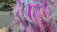 Son Moda Pastel Renkli Ombre Saç Modelleri ve Saç Renkleri