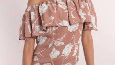 Çiçekli Elbise Modelleri 2018 Yeni Moda Seksi ve Zarif