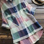 Uzun gömlek tunik modelleri ekose büyük cepli