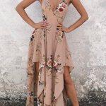En Şık Gece Kıyafetleri 2020 Abiye Elbise Çiçekli Uzun