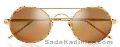 Şeffaf Güneş Gözlükleri linda farrow_985 euro