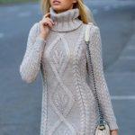 2020 Vizyon Triko Elbise Modelleri Şık ve Dikkat Çekici Kazak Elbiseler
