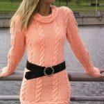 2020 Yavruağzı Triko Elbise Modelleri Şık ve Dikkat Çekici Kazak Elbiseler