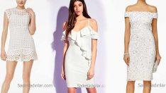 2018 Beyaz Elbise Modellerine Dolabınızda Yer Açın! Zarif ve Şık