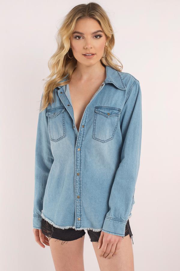 2019 Yazlık Kıyafet Kombinleri Mavi Kot Gömlek kısa şort