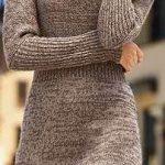 2020 Kahve Triko Elbise Modelleri Şık ve Dikkat Çekici Kazak Elbiseler