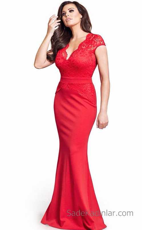 2019 Kırmızı Abiye Elbise Modelleri Çekiciliğin AdresiKırmızı Elbise Balık Abiye Uzun Dantel Detaylı