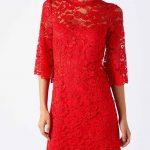 2021 Kırmızı Abiye Elbise Modelleri Çekiciliğin AdresiKırmızı Elbise Dantel Detaylı Yetim Kol Kısa Gece Elbiseleri