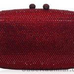 Kırmızı Zincir Askılı Abiye Çanta