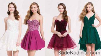Kısa Mezuniyet Elbiseleri Genç Abiye Elbise Modelleri 2018