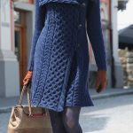 Lacivert Triko Elbise Modelleri Şık ve Dikkat Çekici 2018 Kazak Elbiseler