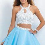 Mezuniyet Elbisesi mavi kıs balerin etekli