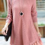 2020 Pudra Triko Elbise Modelleri Şık ve Dikkat Çekici Kazak Elbiseler