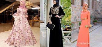 Tesettür Abiye Modelleri Düğün ve Özel Geceleriniz İçin Elbise Modelleri