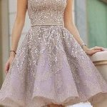 Vizyon Mezuniyet Elbisesi kısa straplez boncuk işlemeli