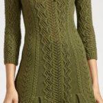 2020 Yeşil Triko Elbise Modelleri Şık ve Dikkat Çekici Kazak Elbiseler