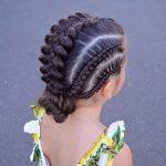 Çocuk Saç Modelleri Örgü Topuz