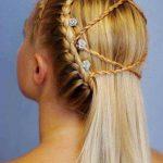 Çocuk Saç Modelleri Örgü Çapraz