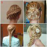 Örgü Saç Modelleri Sarı Saç - genc kiz sac modelleri
