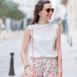 Sokak Modası Minyon Kadınlar İçin Kıyafet Kombinleri Desenli Şortlar