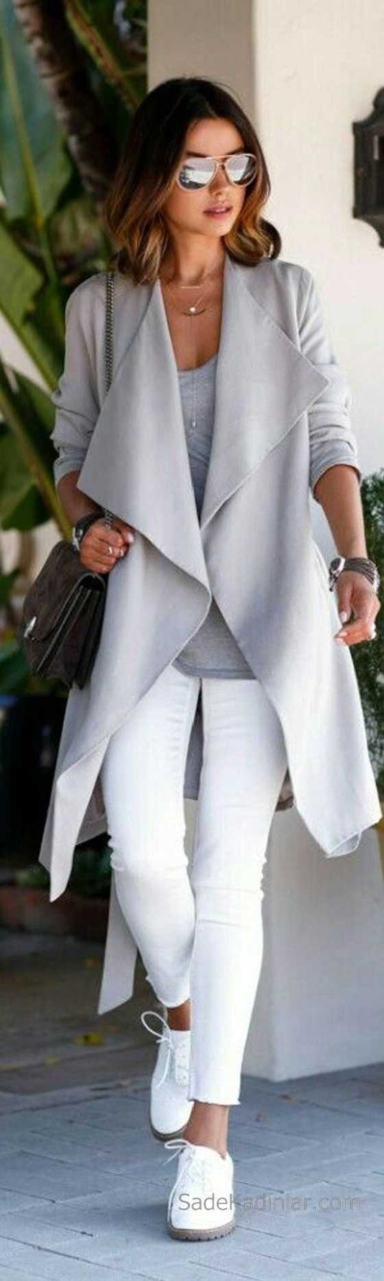 Gri elbise ile kış kombini 2019