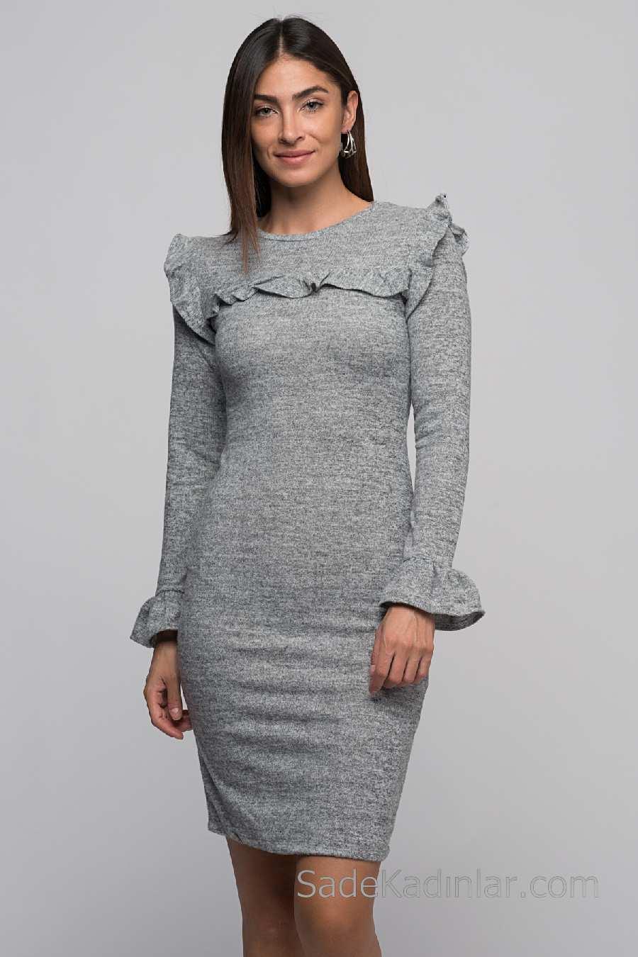 Kışlık Uzun Elbise Modelleri
