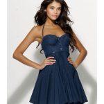 Kot Elbise Modelleri Askılı Kısa Kloş Etek
