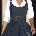 Kot Elbise Modelleri Askılı Kloş Kabarık Etek