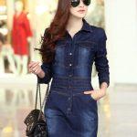 Kot Elbise Modelleri Yakalı Uzun Kollu Kısa Cepli