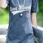 Kot Elbise Modelleri Yuvarlak Yaka Kısa Yandan Düğmeli